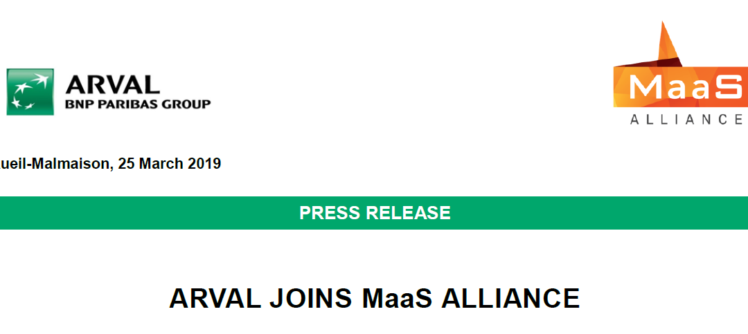 Press Release – ARVAL joins the MaaS Alliance