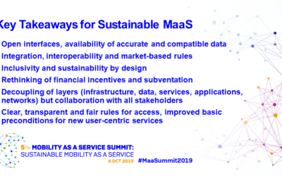 MaaS Summit 2019 addresses sustainability