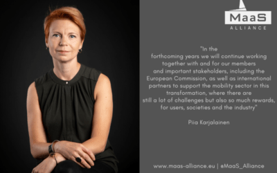 Governing Board of Directors appoints Piia Karjalainen Secretary General of the MaaS Alliance